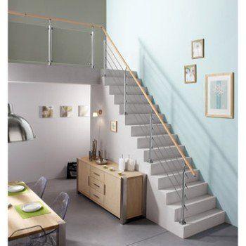 main courante h tre verni 2m leroy merlin amenagement. Black Bedroom Furniture Sets. Home Design Ideas