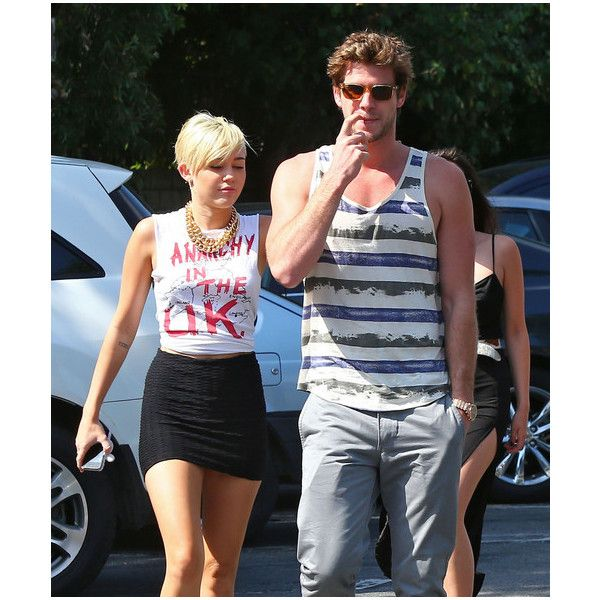Miley Cyrus in Miley Cyrus And Liam Hemsworth Grocery Shopping At... via Polyvore