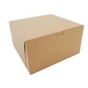 10 X 10 X 5 Kraft Cake Box 100 Case Corner Bakery Bakery Box Window Locks