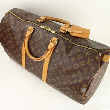 3afb33ddcbb5 Louis Vuitton (nice Condition  Trusted Tradesy Seller) Keepall 55 With Lock    Key   Name Tag Travel Bag.