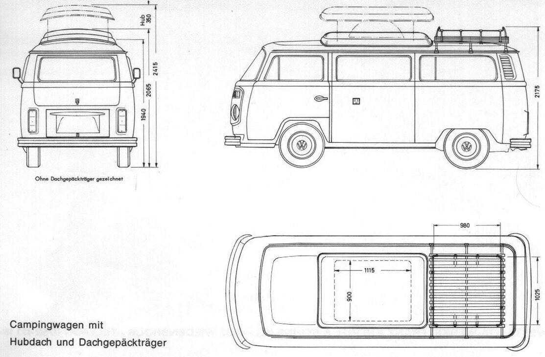 Volkswagen bus dimensions