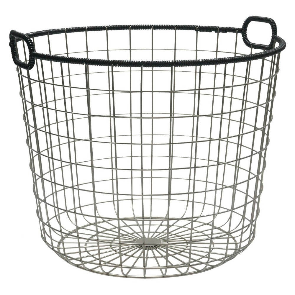 Wire Floor Basket Decorative Storage Bins Floor Baskets