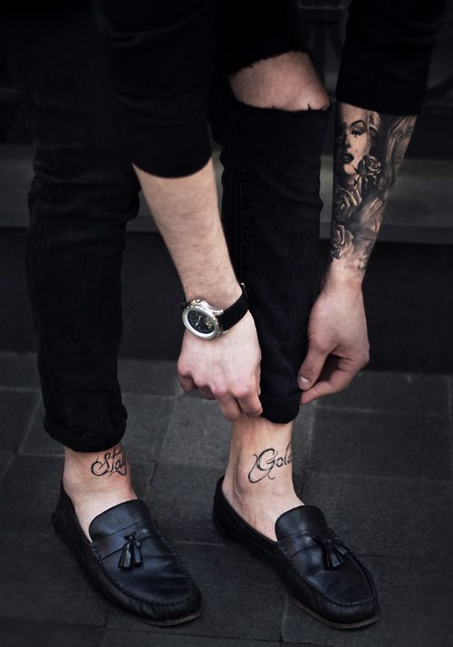 Pin By Selena Koliopoulos On Ink Ankle Tattoo Men Stay Gold Tattoo Front Ankle Tattoos