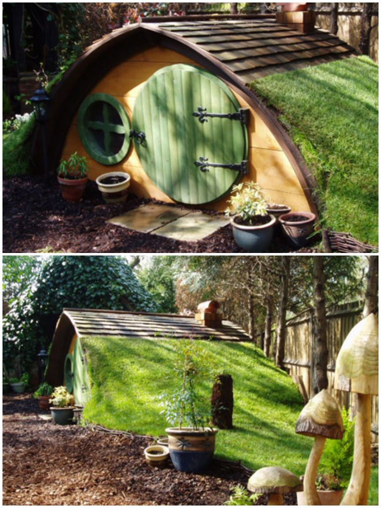 Cute Hobbit House Kit In Garden Garden Playhouse
