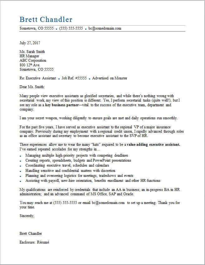 Executive Assistant Cover Letter In 2021 Job Cover Letter Cover Letter For Resume Administrative Assistant Cover Letter