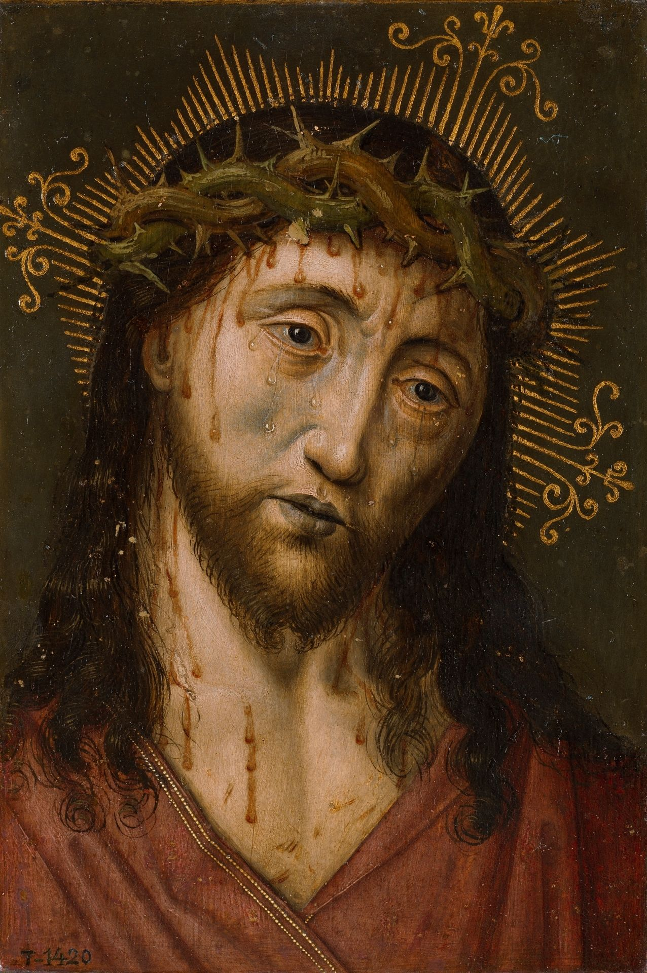 Christ Cristo 16th Century Disciple Of Albert Bouts Museo Del Prado Jesus Pictures Of Christ Catholic Art Jesus Images