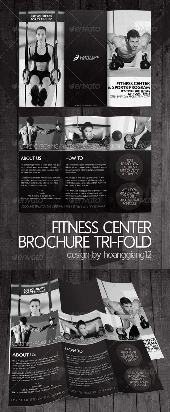 Fitness Brochure  Crossfit    Brochures Tri Fold And