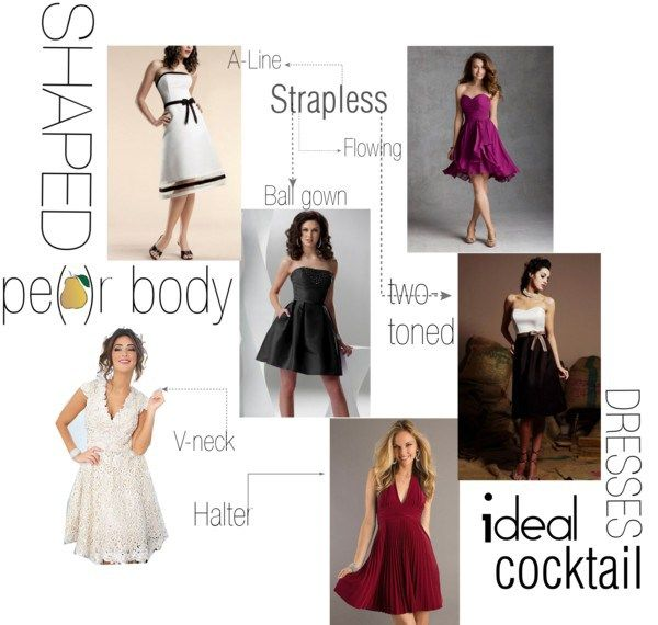 Cocktail dresses for pear shaped body