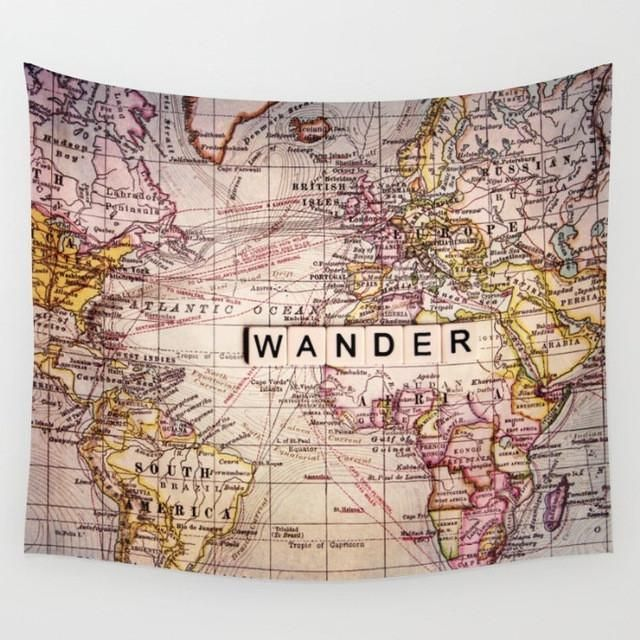 World map canvas tapestry boho wall decoration decor 10 styles world map canvas tapestry boho wall decoration decor 10 styles gypsycult pinterest wall decorations tapestry and products gumiabroncs Images
