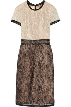 Mikael Aghal Two-tone lace dress | THE OUTNET