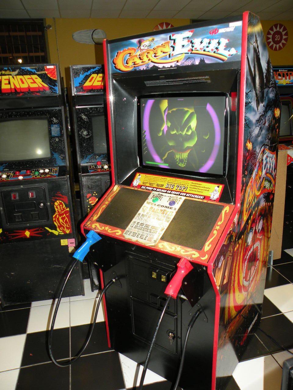 carnevil arcade machine - Google Search   light gun arcade ...