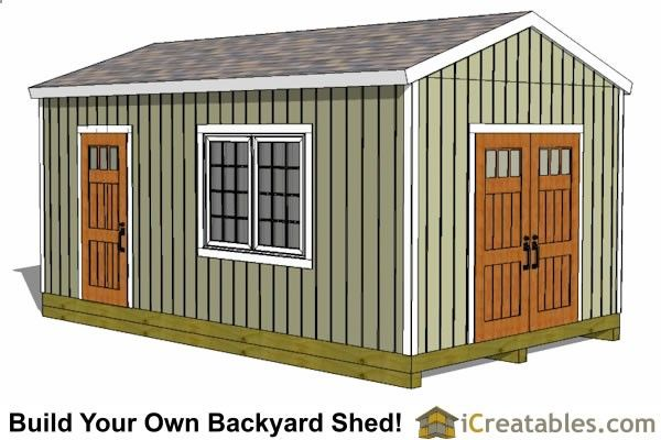 Shed Plans - Large Shed Plans - How to Build a Shed - Outdoor