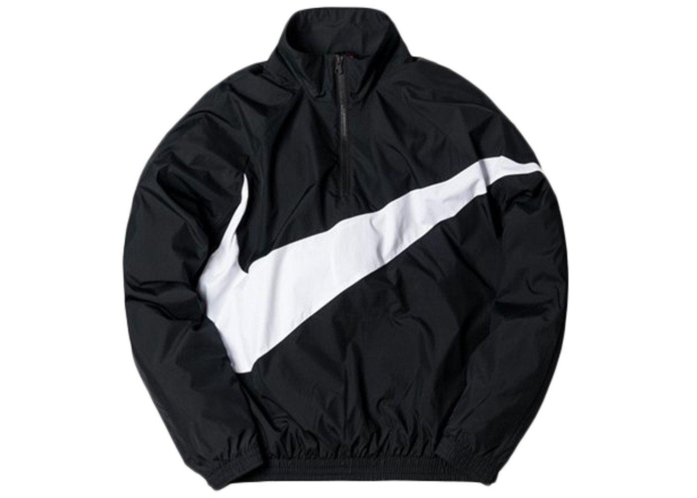 Kith Nike Big Swoosh Quarter Zip Black Fw17 Nike Outfits Windbreaker Jacket Mens Jordan Outfits For Girls