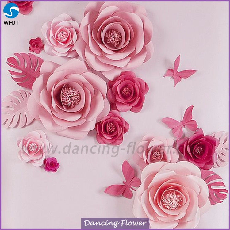 New High Reflective Giant Handmade Mulberry Paper Flowers