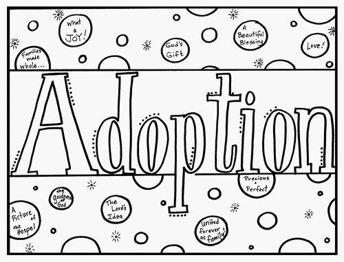 christ-centered coloring book for explaining adoption to