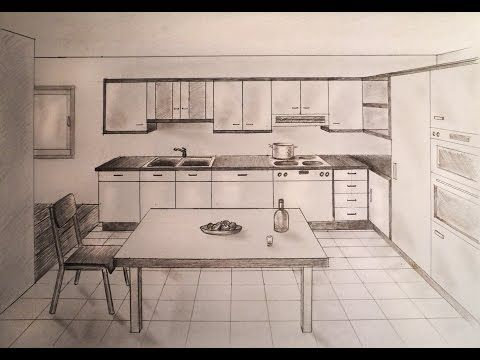 Pin by claire proctor on perspective dessin perspective - Two point perspective living room ...