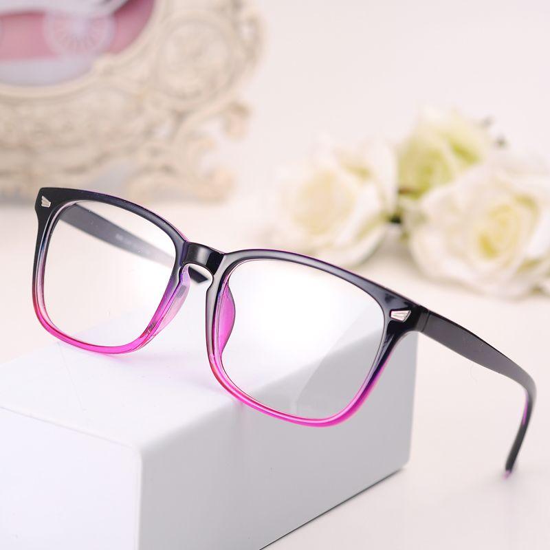 295f327afe3 2017 New Eyeglasses Men Women Suqare Brand Designer Eyewear Frame Optical  Computer Female Transparent Eye Glasses Frame Oculos