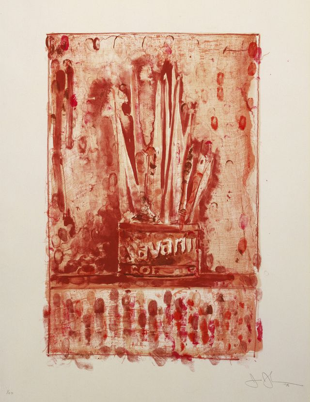 Focus: Jasper Johns: Savarin 3 (Red), 1978
