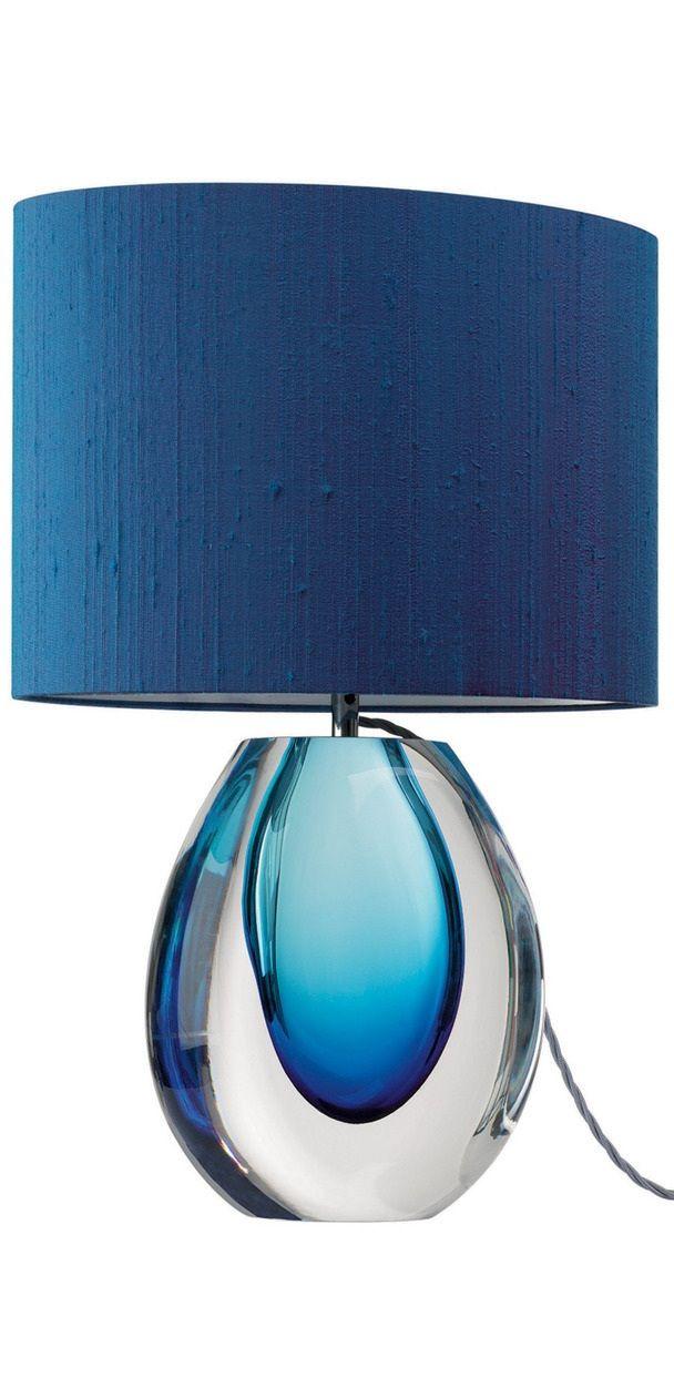 Table Lamps Designer Modern Blue Perfume Bottle Art Glass Table