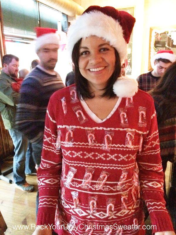 DIY candy cane ugly Christmas sweater! Christmas