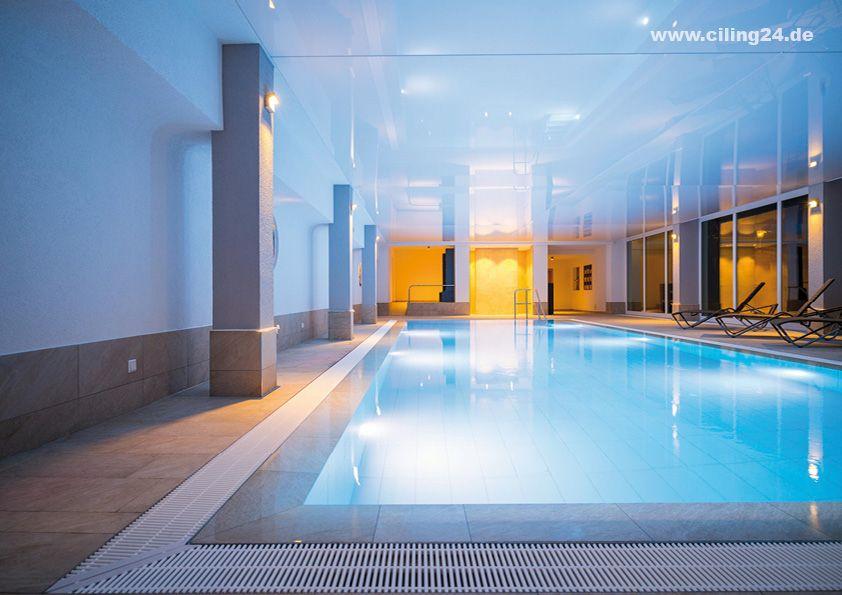 Spanndecke Schwimmbad Hotel Weiss Glanzend Ciling Spanndecken Schwimmbader Hotel