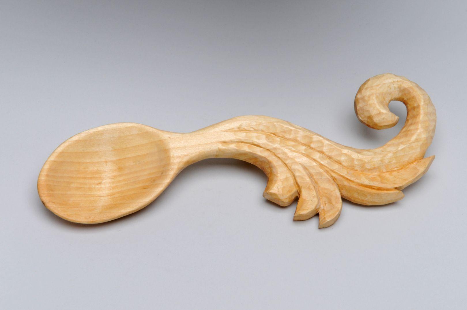 carved wood spoon