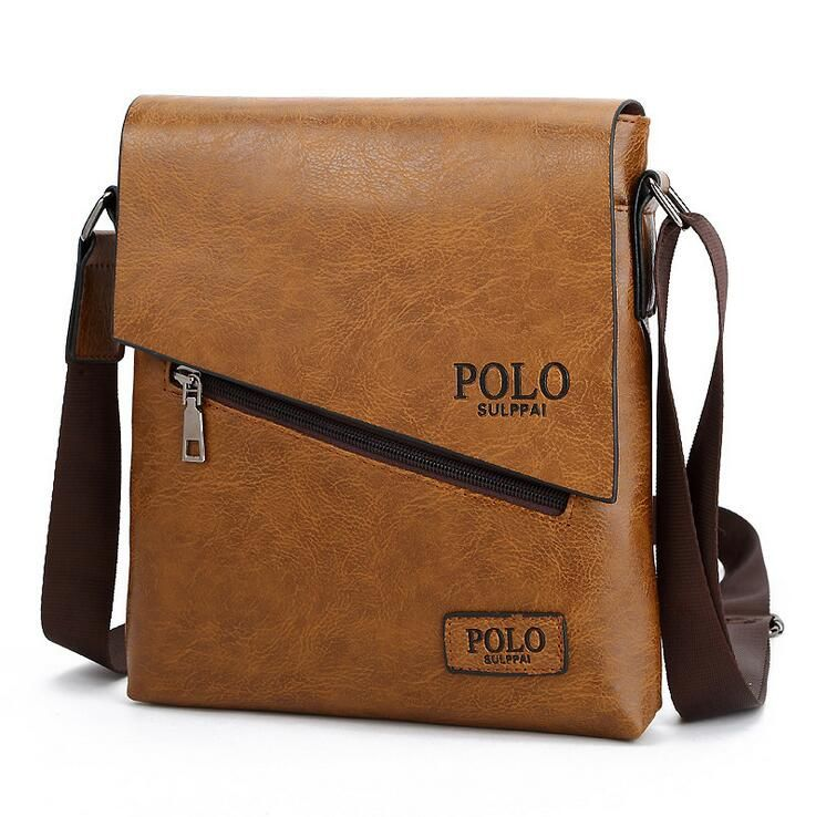 Ruilang New Polo Famous Brand Leather Men Bag Casual Business Briefcae Mens Messenger Bag Vintage Men S Cross Mens Leather Bag Men Bags Casual Shoulder Bag Men