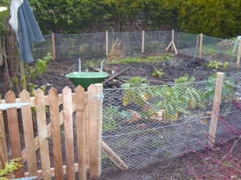 Rabbit Proof Fencing Around Vegetable Patch