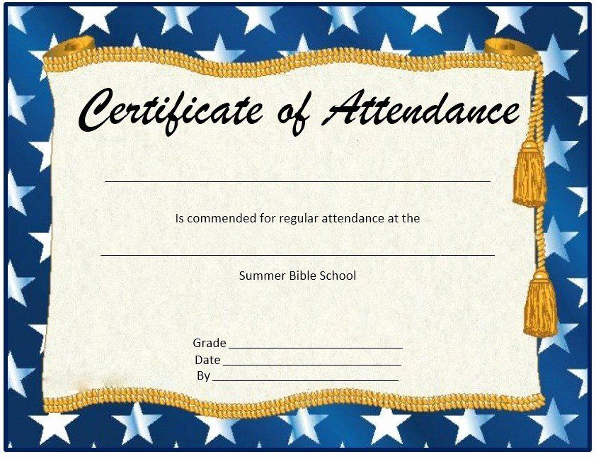 Printable Perfect Attendance Awards Elegant 13 Free Sample Perfect Attendance Certi Perfect Attendance Certificate Attendance Certificate Certificate Templates