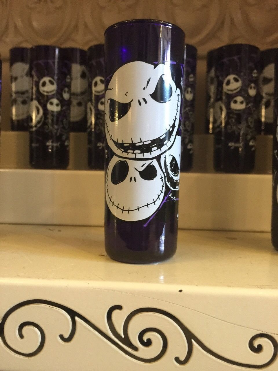 disney parks tall shot glass nightmare before christmas jack faces ...