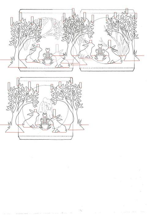Винтажный стиль, бумажные тоннели открытки схемы