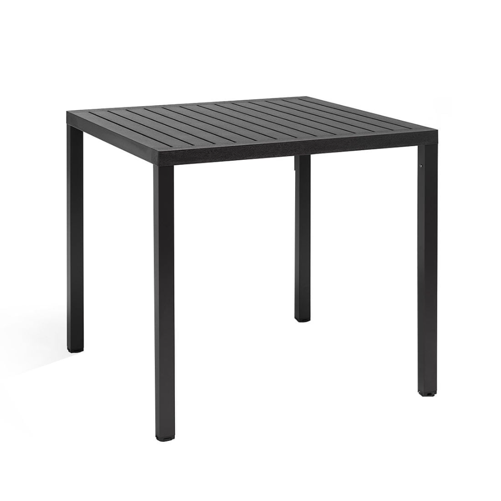 Nardi Cube Tisch 80x80 Cm Aluminium Kunststoff Anthrazit Gartentisch Alu Aluminium Gartenmobel