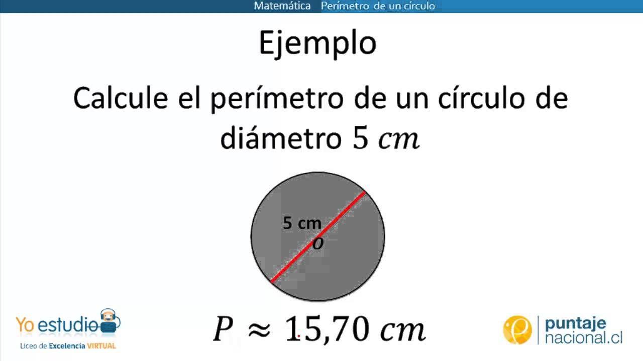 Perímetro De Un Circulo Calcular El Perimetro Perimetro área Y Perímetro