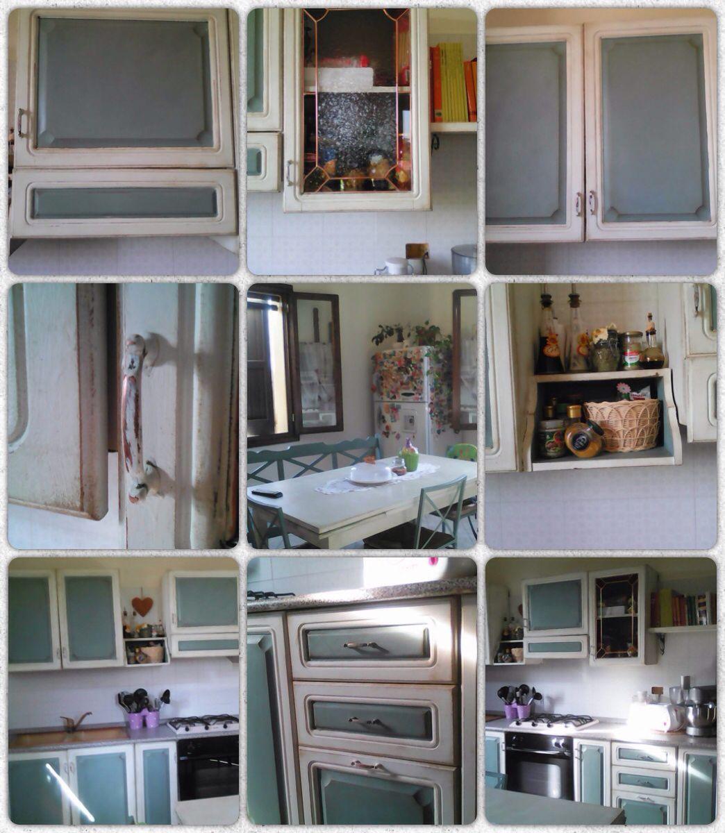 Cucina Old White e Duck Egg Blue Chalk Paint Annie Sloan ...