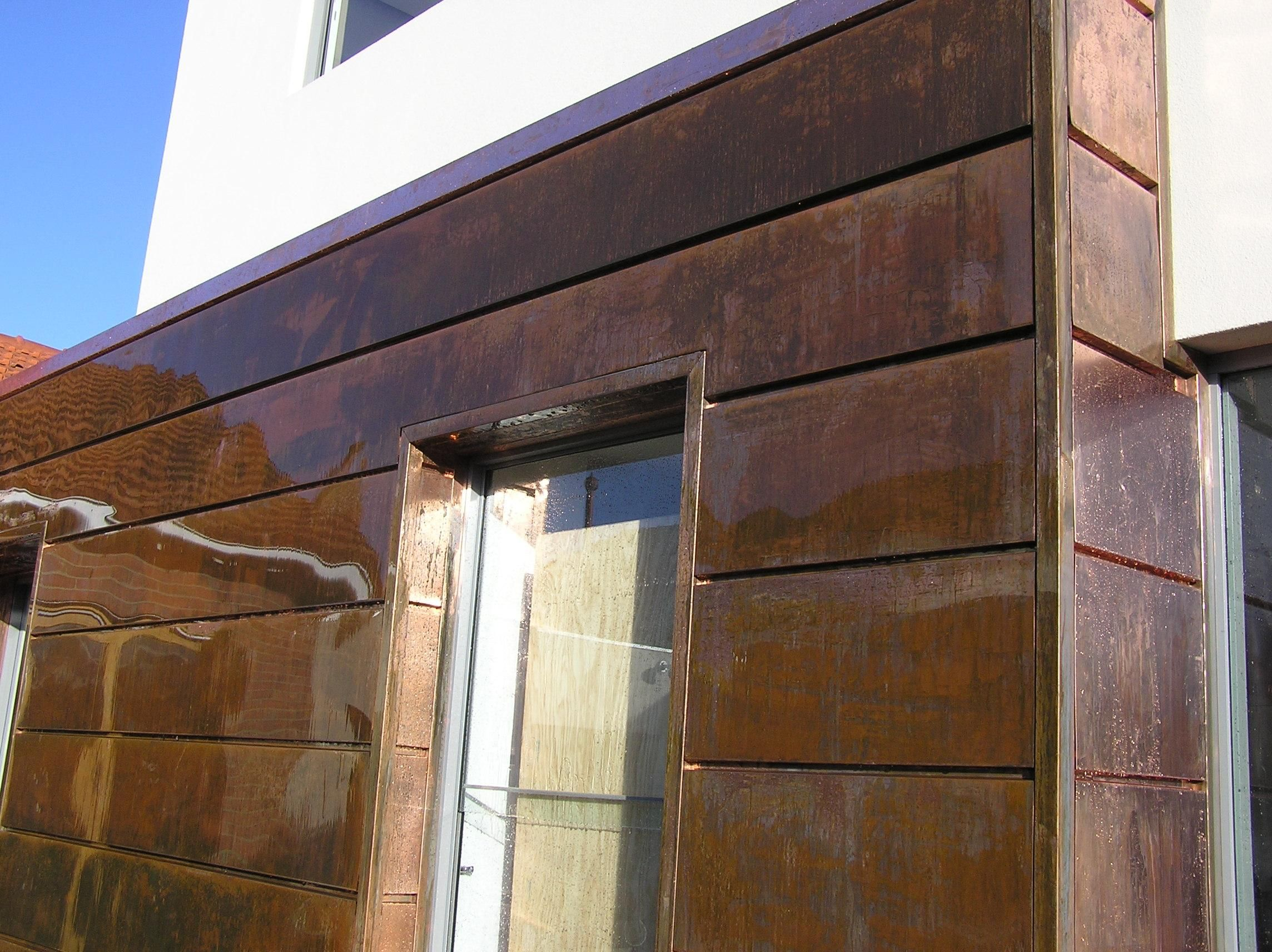 Copper panel images google search shutters cladding - Exterior materials for buildings ...