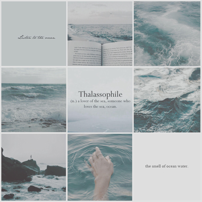 e45f0ee29 Aesthetic Mood Board// Ocean #ocean #aesthetic #moodboard ...