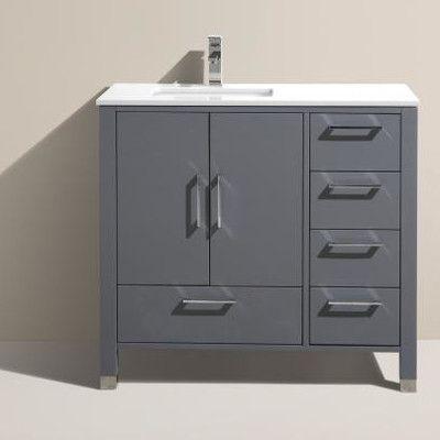 "Kube Bath Anziano 36"" Single Bathroom Vanity Set"