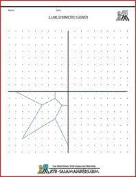 Flower Line Symmetry Worksheet A Basic Geometry Worksheet With 2 Mirror Lines Symmetry Activities Symmetry Worksheets Symmetry