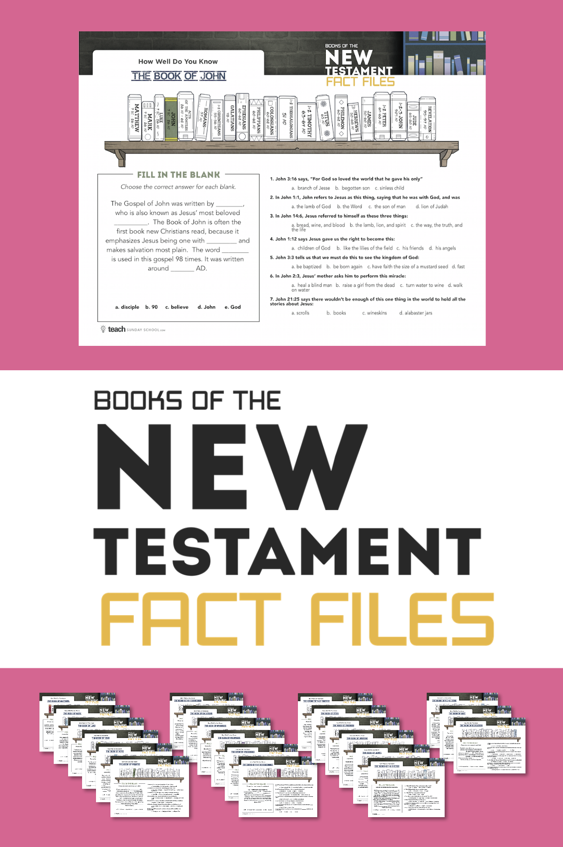 Books Of The New Testament Fact Files In