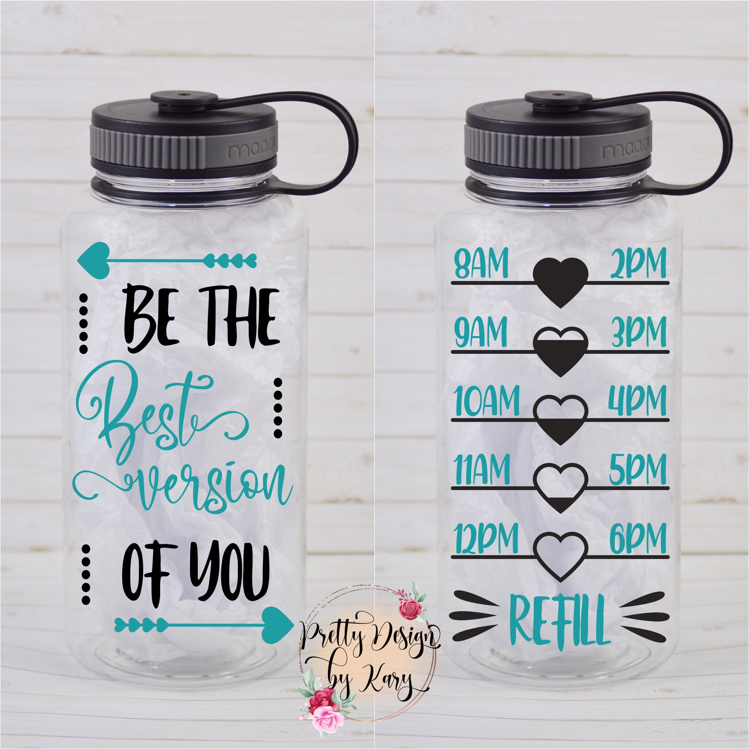 Personalize Water Bottle | Motivation Water Bottle | Water Bottle Track | Be The Best Version Of You Water Bottle | Gift for Her | Mom Gifts