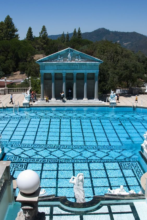 The neptune pool at hearst castle hearst castle is a - Hearst castle neptune pool swim auction ...