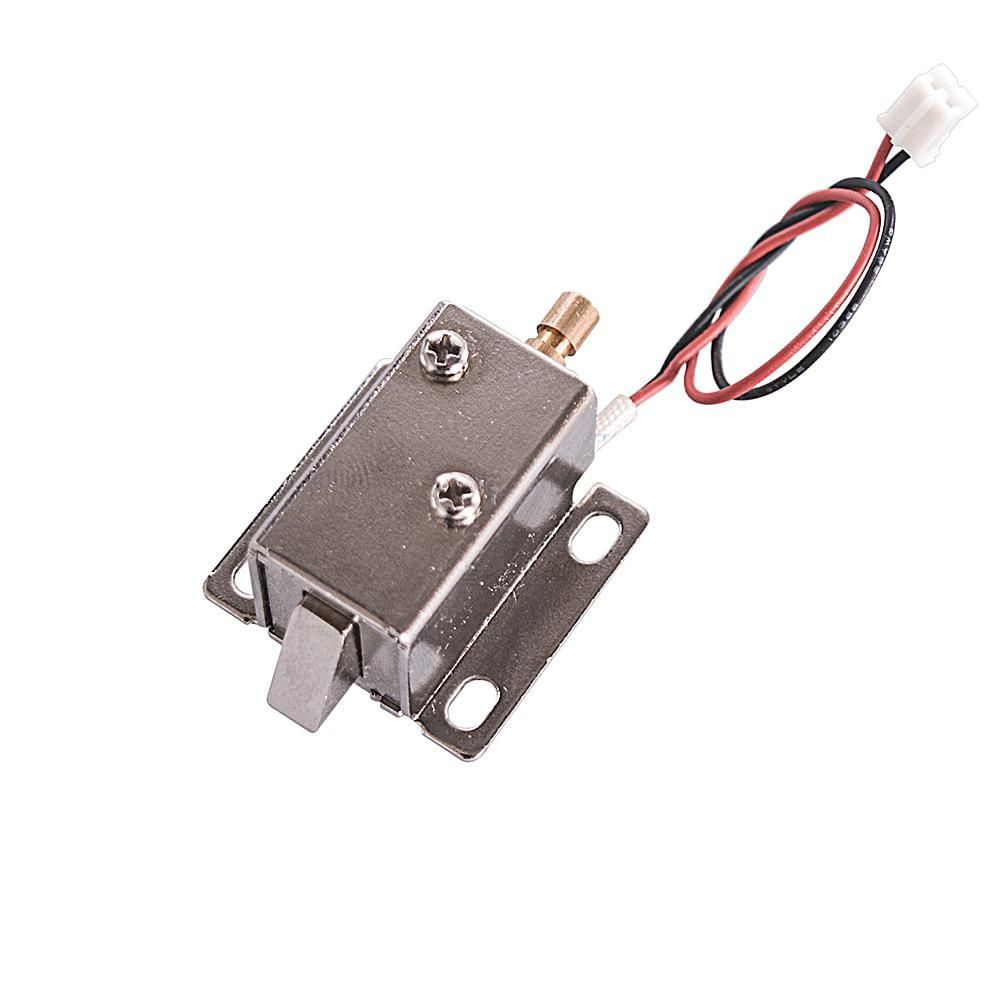 Dc 12v 5w With Tail Rod Mini Electric Control Lock Tongue Latch Assembly Solenoid For Cabinet Drawer Door Latches Rod