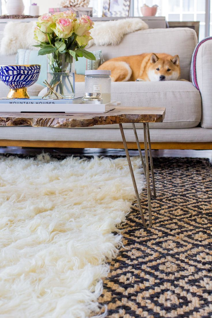 How to Layer Rugs Like a Pro, home decor, pattern rug via @TheFoxandShe