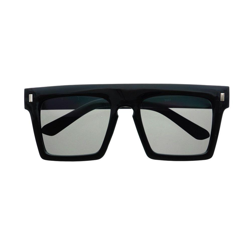 Keyhole Nose Bridge Flat Top Wayfarer Sunglasses Shades FT17