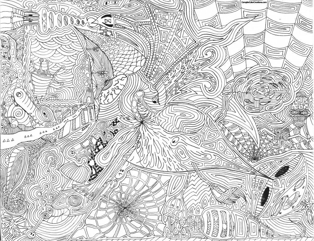 Complex Coloring Pages | Doodle art designs, Zentangle ...