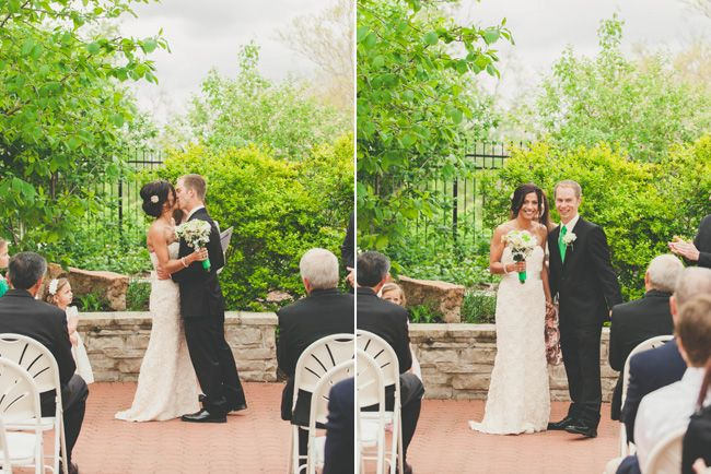 Wedding Ceremony Under Pavilion In Outdoor Garden At The Butterfly