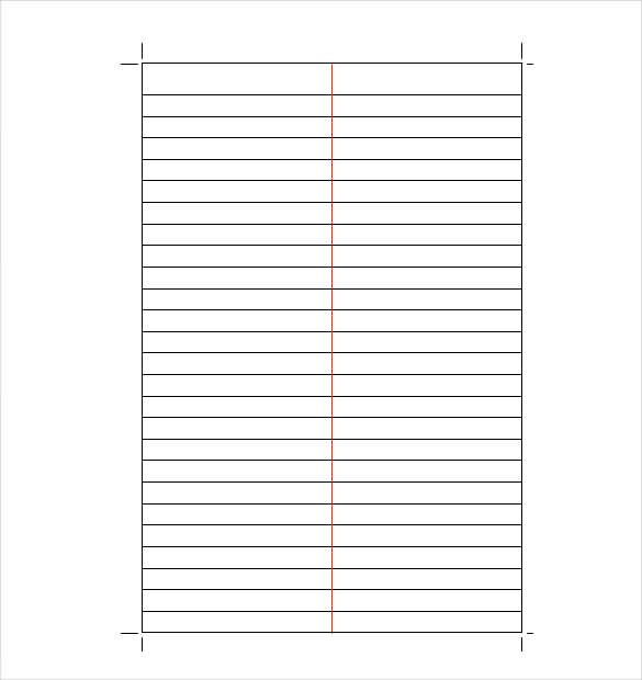 10+ Line Paper Templates Word, Excel  PDF Templates www - iq chart template