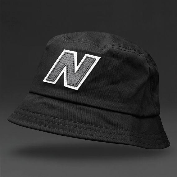 New Balance Glasto Cotton Bucket Hat - Black White