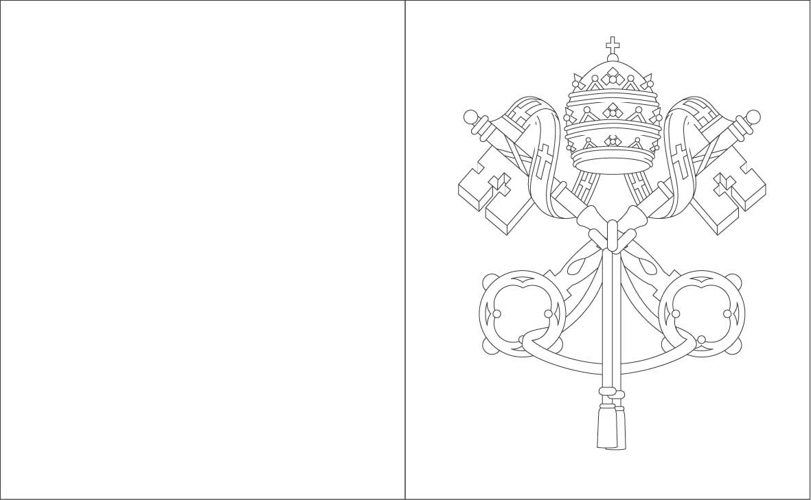 vatican city flag coloring sheets