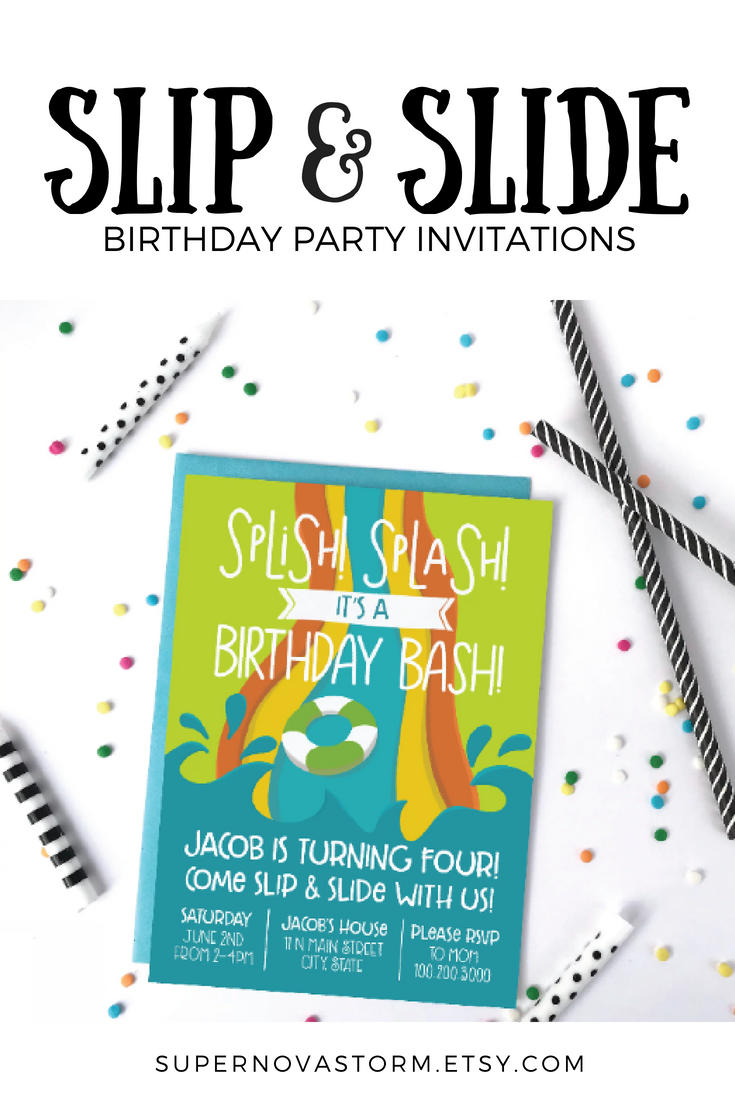 Slip And Slide Birthday Party Invitation You Need This Adorable